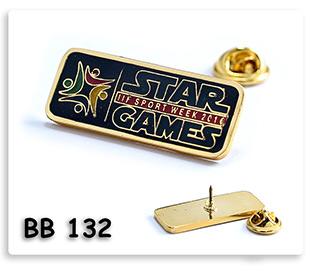 เข็มกลัดโลหะชุบทองลงสี Star Games