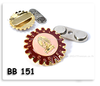 เข็มวิศวจุฬา ชุดทองลงสี เข็มติดเสื้อติดแม่เหล็ก เข็มสถาบัน เข็มรุ่น ติดแม่เหล็ก