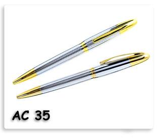 ปากกาโลหะแบบหมุนเปิดปิด เนื้อดี ของพรีเมี่ยมพร้อมสกรีนโลโก้ข้อความ