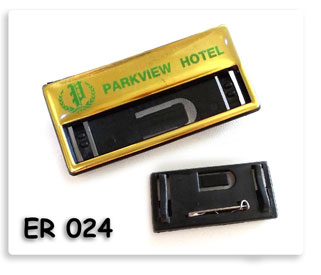 ป้ายขื่อพนักงาน Parkview Hotel