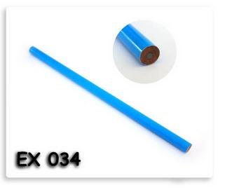 ดินสอไม้กลม สีฟ้า พร้อมสกรีนโลโก้