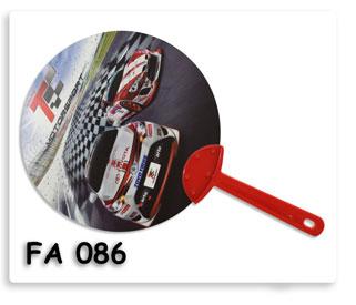 พัดพลาสติก PP พิมพ์ภาพ ออฟเซ็ท Toyota MotorSport Fanclub ของพรีเมี่ยมใช้แจกประชาสัมพันธ์ได้เป็นอย่างดี