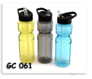 กระบอกน้ำพลาสติกใส พร้อมหลอดดูดน้ำในตัว สินค้าพรีเมี่ยม พร้อมส่งพร้อมสกรีนโลโก้