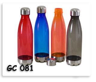 ขวดน้ำพลาสติดหลากสี ของพรีเมี่ยมสกรีนโลโก้ข้อความฟรี ส่งฟรี