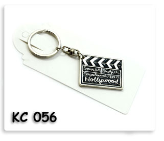 พวงกุญแจโลหะ ชุบเงิน ลงสี Hollywood