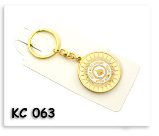 พวงกุญแจโลหะ ชุบทอง ลงสี
