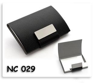 ตลับนามบัตรโลหะหุ้มหนังเทียมสีดำ เนื้อดี สินค้าพรีเมี่ยม พร้อมส่ง