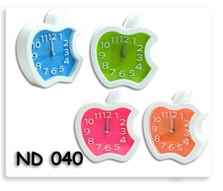 นาฬิกาตั้งโต๊ะ apple หลากสี ใส่ถ่าน ของพรีเมี่ยมพร้อมสกรีนโลโก้