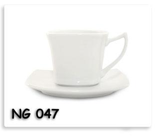 ชุดแก้วกาแฟ เซรามิก เนื้อดี พร้อมสกรีนโลโก้