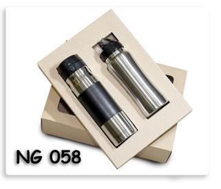 ชุดกี๊ฟเซต กระบอกน้ำโลหะสแตนเลส เก็บความร้อนความเย็น สูญญากาศ ในกล่องกระดาษ พร้อมสกรีนโลโก้