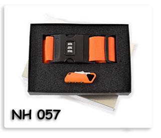 ชุดสายรัดกระเป๋าล็อครหัส พร้อมกุญแจล็อกกระเป๋าเดินทาง ของพรีเมี่ยมพร้อมสกรีน