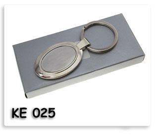 พวงกุญแจโลหะทรงวงรีบรรจุในกล่องกระดาษพร้อมสกรีนข้อความ ของพรีเมี่ยมสำหรับงานด่วนงานเร่งส่งของไว