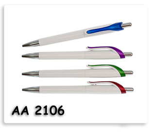ปากกาพลาสติกสกรีนโลโก้ข้อความฟรี