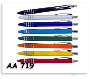 ปากกาพลาสติก ลูกลื่น แบบกด
