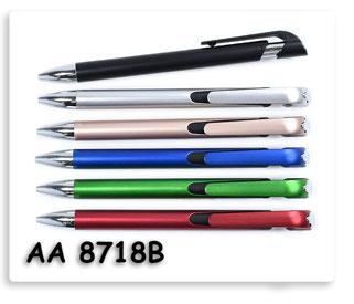 ปากกาพรีเมี่ยม ปากกาลูกลื่นพลาสติกพร้อมสกรีนโลโก้ข้อความให้ฟรี