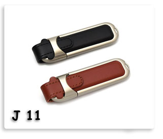 แฟลชไดร์ฟโลหะผสมหนัง พกพา หัอยพวงกุญแจได้ Flash Drive USB JumpDrive ทรัมป์ไดร์ฟ ของพรีเมี่ยมสกรีนโลโก้