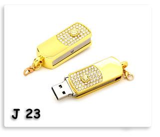 แฟลชไดร์ฟ ที่ห้อยพวงกุญแจ Flash Drive ชุบทองฝังเพชร USB JumpDrive ทรัมป์ไดร์ฟ ของพรีเมี่ยมสกรีนโลโก้