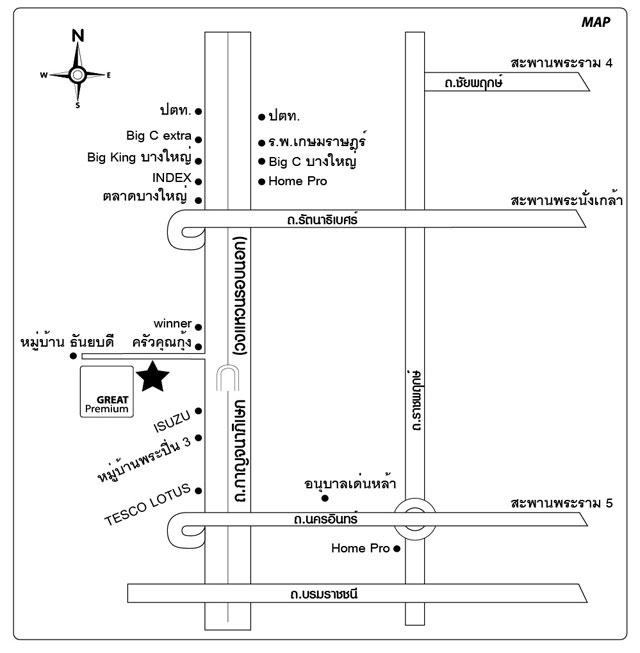 แผนที่ บริษัท เกรทพรีเมี่ยม จำกัด , MAP : GREATPremium Co.,Ltd.