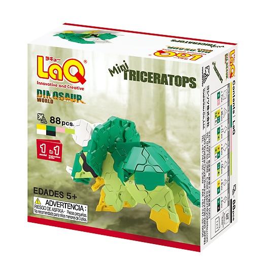 ไทรเซอราท๊อป ไดโนเสาร์ ตัวเล็ก สีเขียว LaQ Mini Triceratops