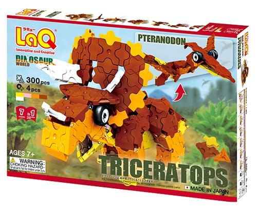 LaQ Triceratops ลาคิว ไดโนเสาร์ ไทรเซอราท๊อปส์ สีน้ำตาล Hayashi World ฮายาชิ เวิลด์