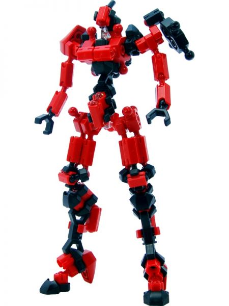 ตัวต่ออโซบล็อค Asoblock Epsilon Red หุ่นสีแดง ของเล่น เสริมพัฒนาการเด็ก สื่อเสริมทักษะ จากญี่ปุ่น เสริม IQ EQ