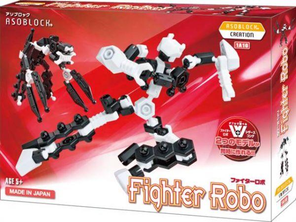เสริมพัฒนาการ หุ่นยนต์ ตัวต่อ อโซบล็อค 1A10 Fighter Robo เสริมทักษะ ญี่ปุ่น ของเล่น IQ EQ