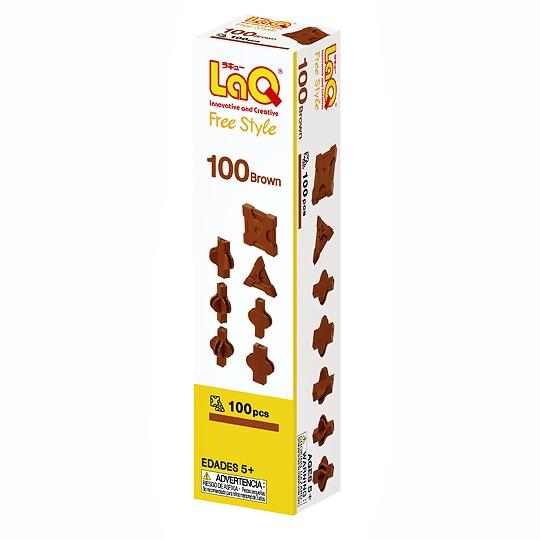 LaQ Free Style 100 Brown box ลาคิว กล่องสีน้ำตาล