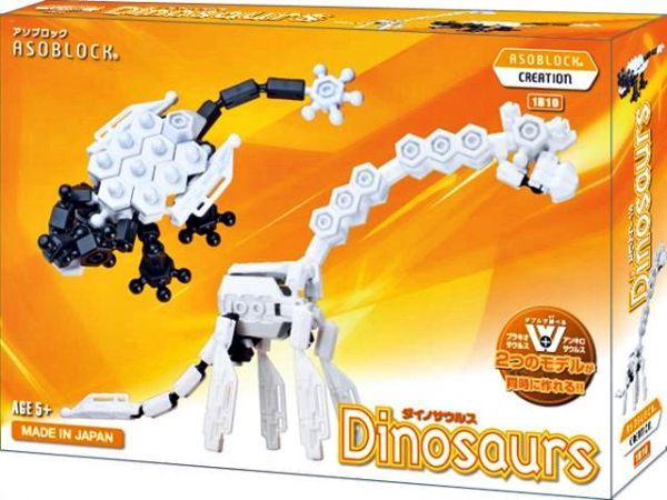 อโซบล็อค Asoblock รุ่น W 1B10 Dinosaurs ไดโนเสาร์ ของเล่น เสริมพัฒนาการ กล้ามเนื้อมัดเล็ก ญี่ปุ่น