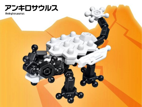 ตัวต่อ อโซบล็อค ไดโนเสาร์ 1B10 Asoblock ของเล่น เสริมพัฒนาการเด็ก เสริมทักษะ ญี่ปุ่น IQ EQ โมเดล