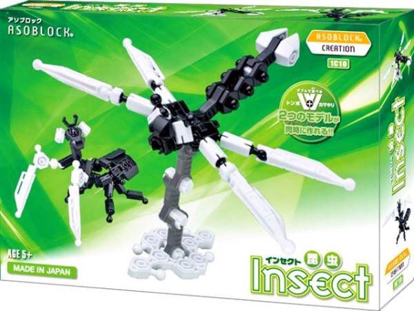 อโซบล็อค Asoblock รุ่น W 1C10 Insect แมลง ของเล่น เสริมพัฒนาการ กล้ามเนื้อมัดเล็ก ญี่ปุ่น