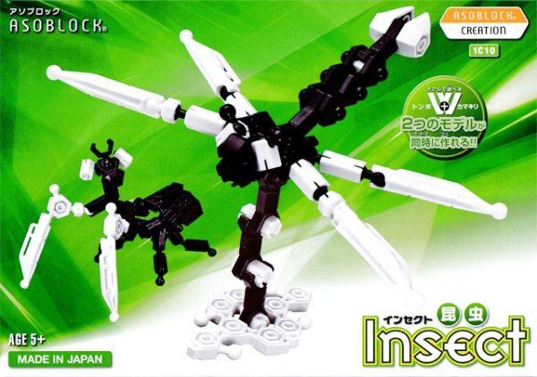 ของเล่น เสริมทักษะ เสริมพัฒนาการ ตัวต่อ อโซบล็อค แมลง Asoblock 1C10 Insect ญี่ปุ่น IQ EQ
