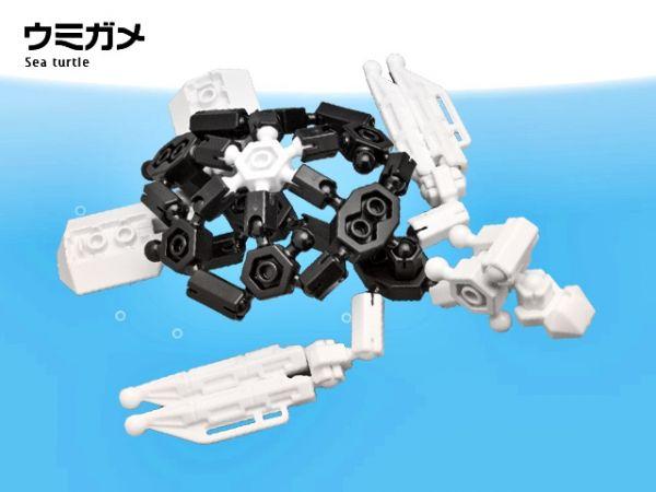 ตัวต่ออโซบล็อค เต่า สัตว์ทะเล 1D10 Asoblock ของเล่น เสริมพัฒนาการเด็ก เสริมทักษะ ญี่ปุ่น โมเดล
