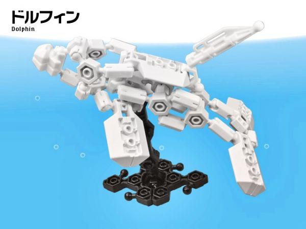 ตัวต่อ อโซบล็อค 1D10 ปลาโลมา สัตว์ทะเล Asoblock ของเล่น เสริมพัฒนาการเด็ก เสริมทักษะ ญี่ปุ่น IQ EQ โมเดล