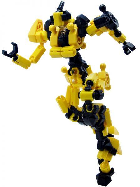 Asoblock Epsilon Yellow หุ่นยนต์สีเหลือง ของเล่น ตัวต่อเสริมทักษะ อโซบล้อค สื่อเสริมพัฒนาการเด็กจากญี่ปุ่น พัฒนาสมอง กล้ามเนื้อมัดเล็ก