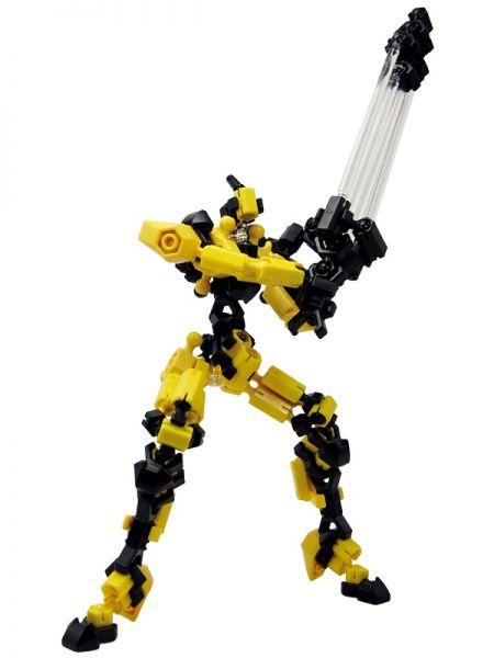 โมเดล Asoblock Epsilon Yellow หุ่นยนต์สีเหลือง ตัวต่ออโซบล็อค ของเล่น เสริมพัฒนาการเด็ก สื่อเสริมทักษะ่จากญี่ปุ่น พัฒนาสมองซีกขวา