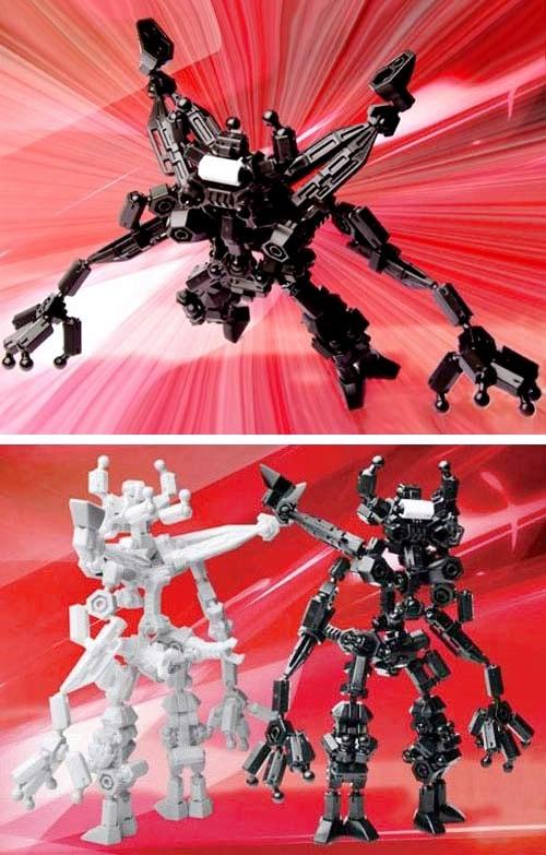 ASOBLOCK 403S ตัวต่ออโซบล็อค ชุด หุ่นรบอวกาศ ต่อได้หลายแบบ เสริมสร้างความคิดสร้างสรรค์ และจินตนาการ