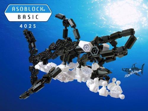 ASOBLOCK 402S ตัวต่ออโซบล็อค ชุด ปลาฉลามยักษ์ ต่อได้หลายแบบ เสริมสร้างความคิดสร้างสรรค์ และจินตนาการ
