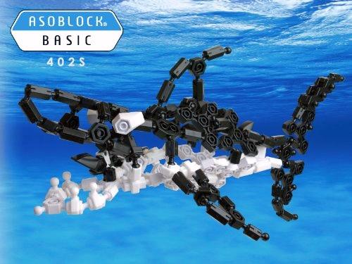 ตัวต่ออโซบล็อค ชุด 402S ปลาฉลาม ของเล่นเสริมสร้าง IQ, EQ จากญี่ปุ่น ASOBLOCK 402S