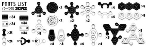 ตัวต่ออโซบล็อค 402S มีชิ้นส่วน 292 ชิ้น เป็นของเล่นเสริมทักษะจากญี่ปุ่น ช่วยเสริมสร้าง IQ, EQ
