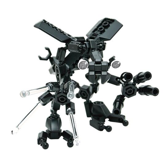 หุ่นยนต์สีดำ Asoblock 25MB Robot อโซบล็อค ของเล่นเสริมพัฒนาการจากญี่ปุ่น