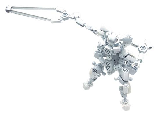 อโซบล็อค หุ่นยนต์ สีขาว Asoblock Robot 25MB พัฒนาสมองซีกขวา เสริมสร้าง IQ, EQ