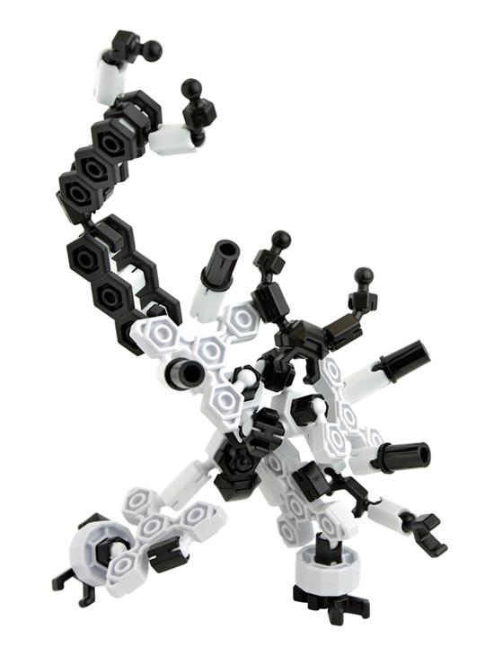 หุ่นยนต์สีดำ Asoblock 15MC Robot อโซบล็อค ของเล่นเสริมพัฒนาการจากญี่ปุ่น