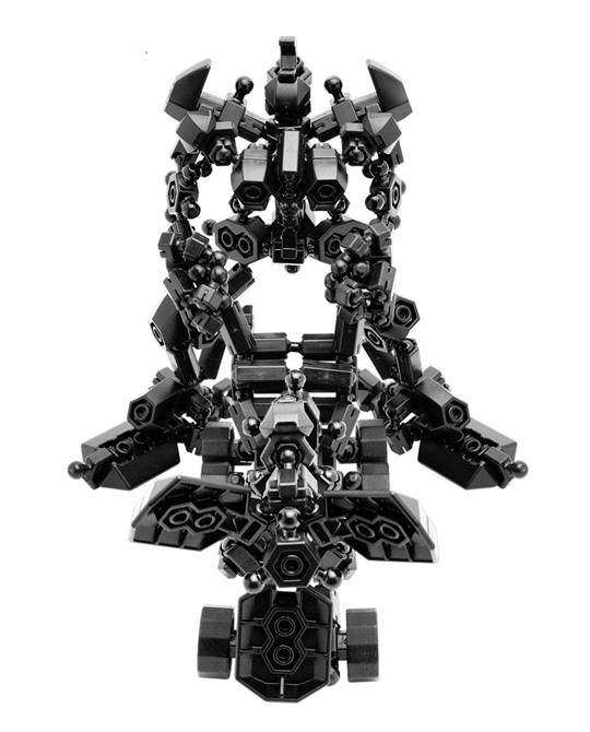 หุ่นยนต์สีดำ ของ ASOBLOCK ชุด 301K ฟรีสไตล์