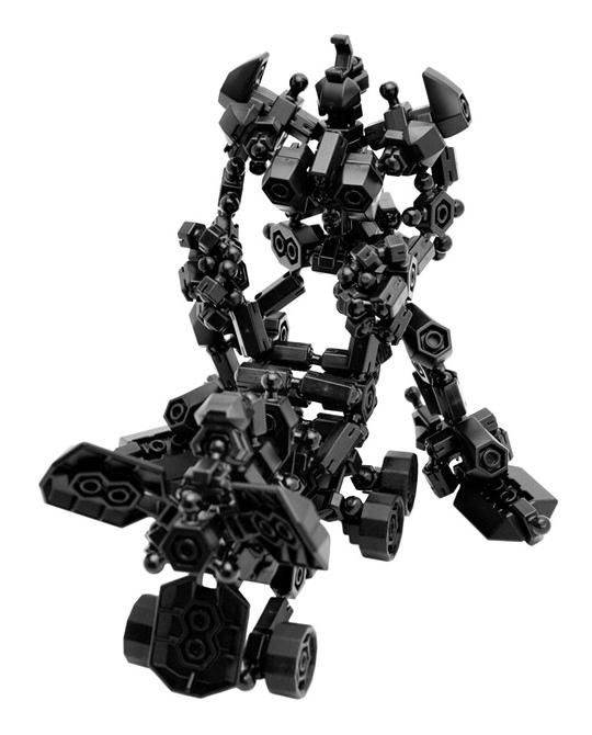 Black Robot Asoblock 301K Freestyle หุ่นยนต์ สีดำ อโซบล็อค
