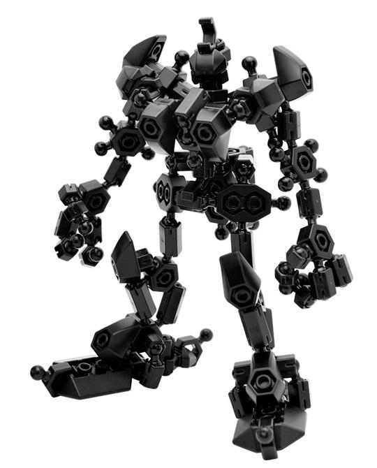 ตัวต่ออโซบล็อค 301K Black robot Freestyle หุ่นยนต์ สีดำ