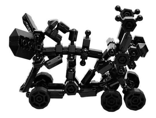 ชุดปืนเลเซอร์ ของหุ่นยนต์ สีดำ ในอโซบล็อค Asoblock 301K Freestyle Black