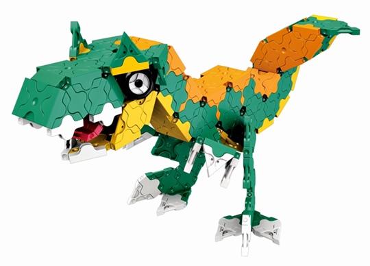 ไดโนเสาร์ สีเขียว ภายในชุด LaQ Dino Kingdom จากญี่ปุ่น
