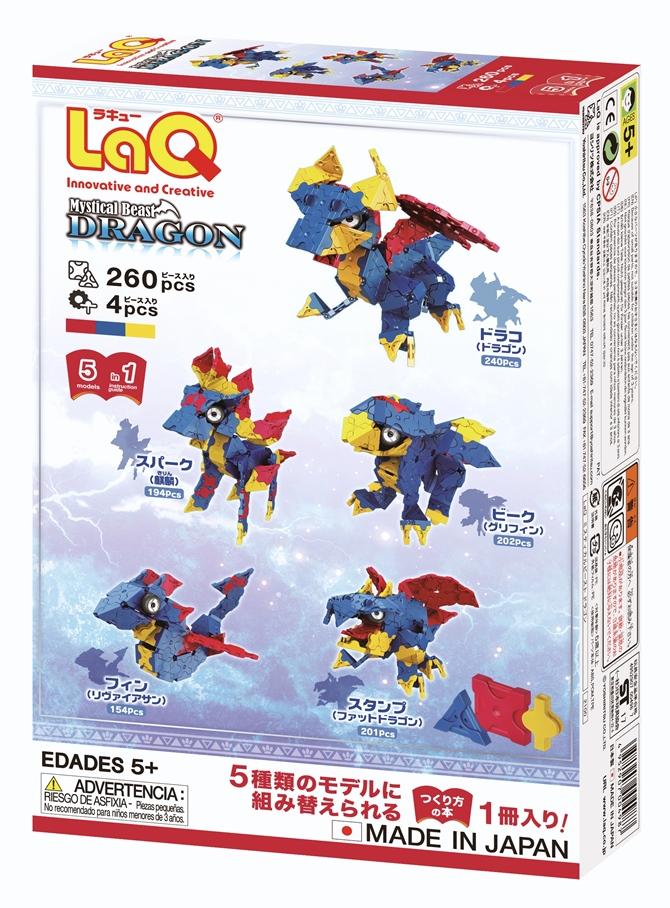 ตัวต่อลาคิว ชุด มังกร LaQ Mystical Beast Dragon กล่องด้านหลัง