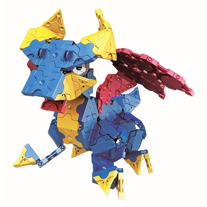 มังกร สีน้ำเงน ในลาคิวชุด LaQ Mystical Beast Dragon
