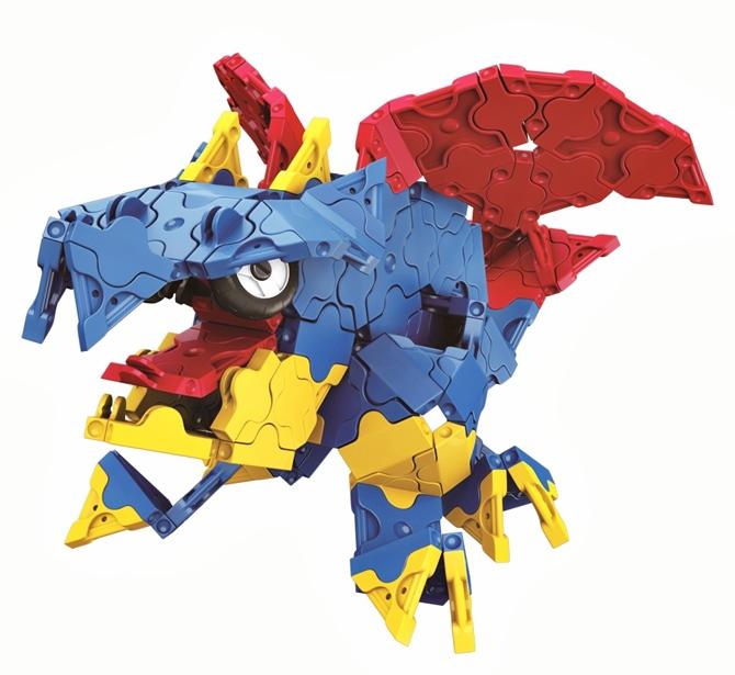 ตัวต่อลาคิว มังกร สีน้ำเงิน แบบที่ 3 ของชุด LaQ Mystical Beast Dragon